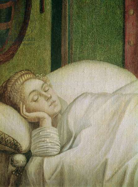 Dream of St. Ursula, 1495 (tempera on canvas) (see 686 for whole image)