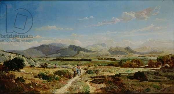 Hills near Allauch, 1862 (oil on canvas)