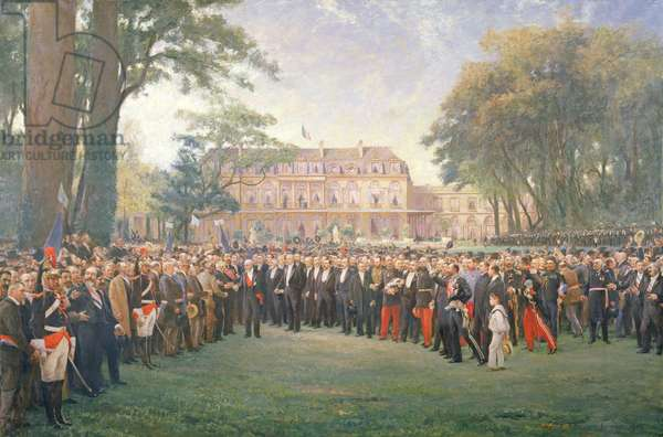 Reception of the Mayors of France at the Elysee Palace, 22nd September 1900, 1904 (oil on canvas)