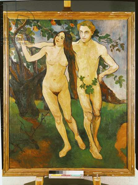 Adam and Eve, 1909 (oil on canvas)