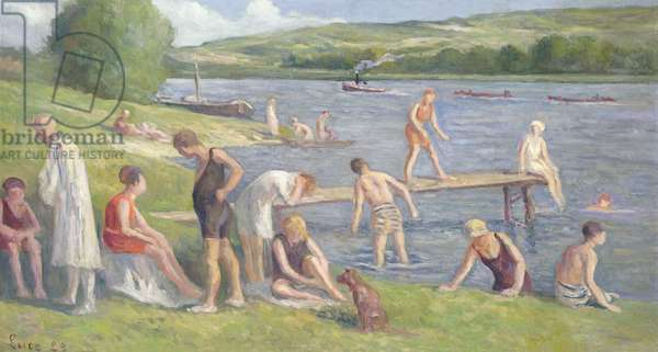 Bathers on the Banks of the Seine (oil on canvas)