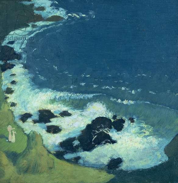 Seaside (oil on canvas)