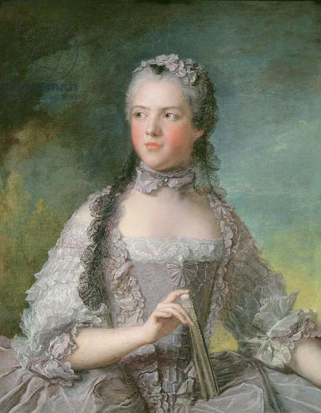 Portrait of Adelaide de France (1732-1800) with a Fan, 1749 (oil on canvas)