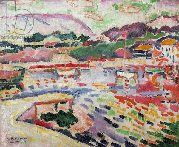 The Wharf at L'Estaque, 1906 (oil on canvas)