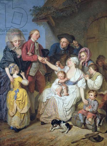 Charity, 1777 (oil on canvas)