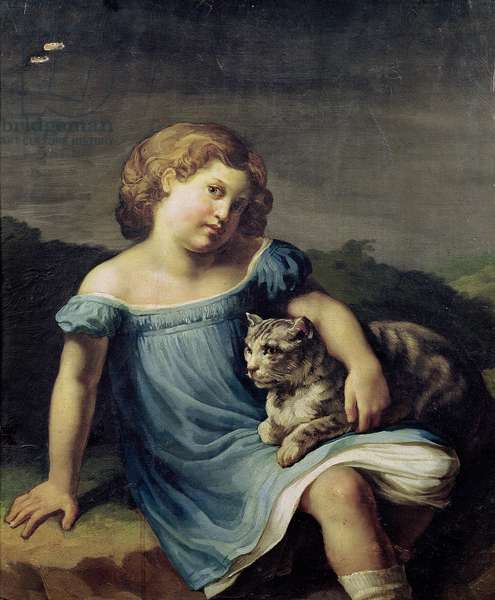 Portrait of Louise Vernet as a Child, 1818-19 (oil on canvas)