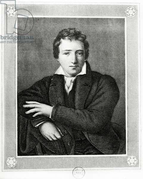 Portrait of Heinrich Heine (1797-1856), German poet (engraving)