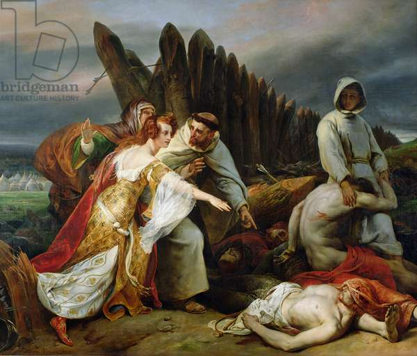 Edith Finding the Body of Harold, 1828 (oil on canvas)