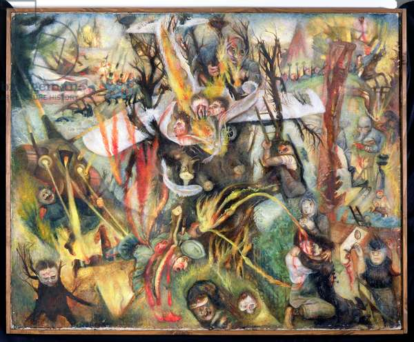 The Aerial War, 1936 (oil on canvas)