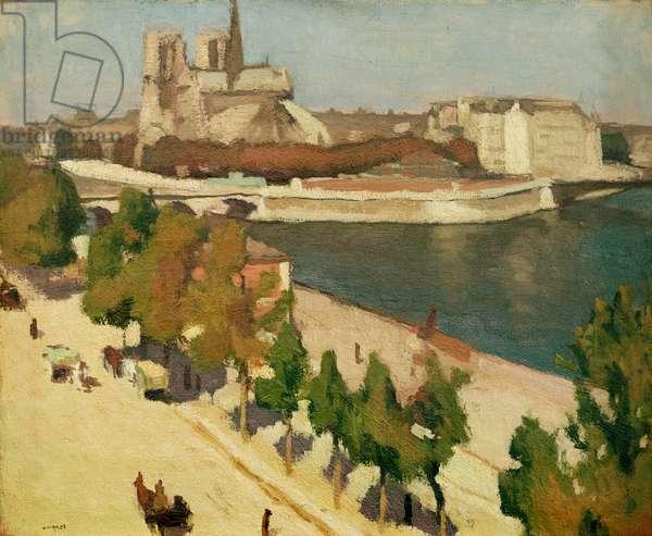 The Apse of Notre-Dame, Paris, 1901 (oil on canvas)