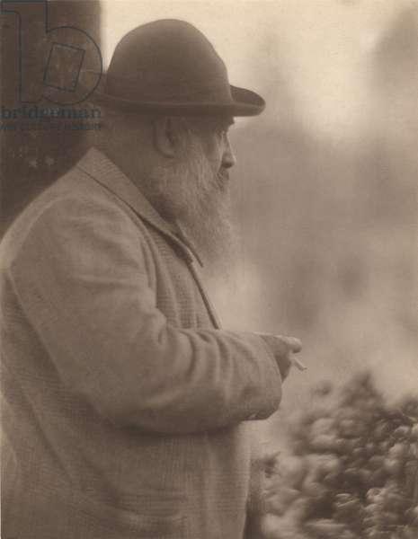 Portrait of Claude Monet (1841-1926) 27th August 1905 (b/w photo)