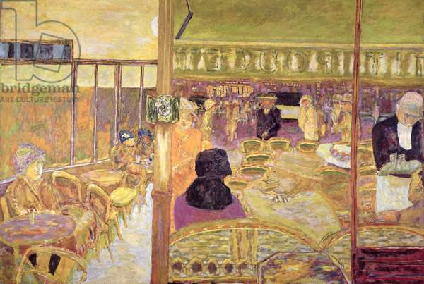 The Cafe du Petit Poucet, 1928 (oil on canvas) (see also 20075)
