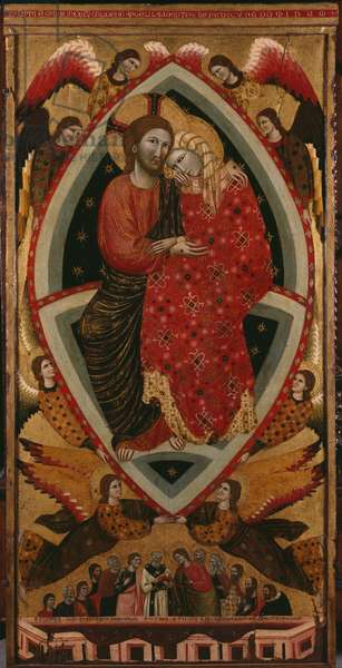 Tryptic of the Virgin, central panel (see also 279476 and 279478) (oil on panel)
