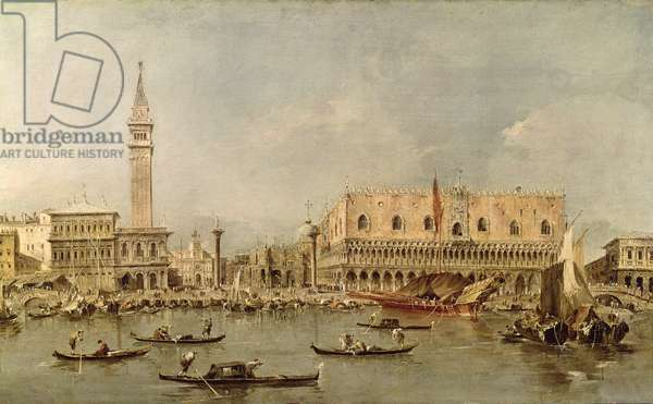 The Piazzetta and the Palazzo Ducale from the Basin of San Marco (oil on canvas)