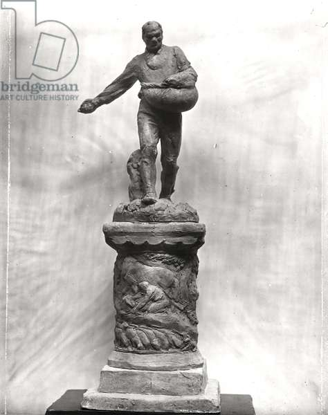 The Sower, maquette for a monument dedicated to the workers in the fields, 1889-1900 (terracotta) (b/w photo)