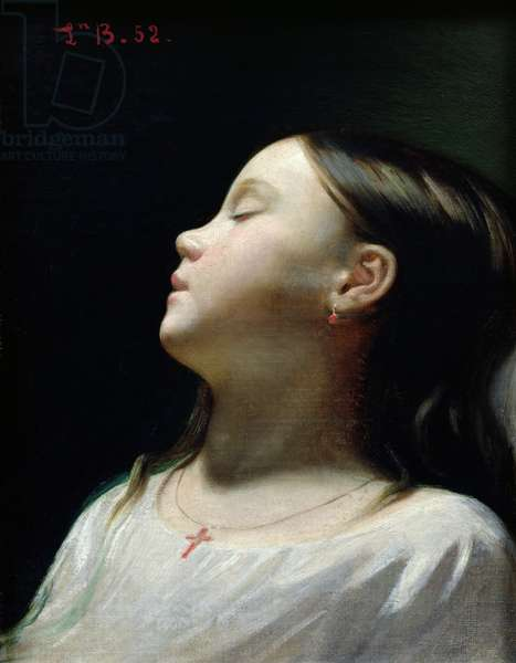 Young Girl Sleeping, 1852 (oil on canvas)