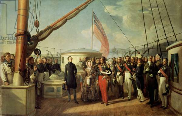 Meeting between Louis-Philippe I (1773-1850) and Queen Victoria (1819-1901) at Le Treport, 2nd September 1843, 1844 (oil on canvas)