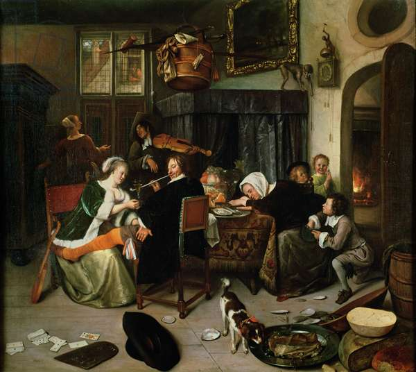 The Dissolute Household, 1668 (oil on canvas)