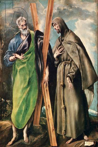 SS. Andrew and Francis of Assisi, after 1576 (oil on canvas)