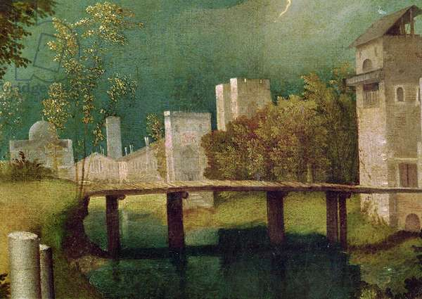 Urban landscape, detail of The Tempest (oil on canvas) (detail of 603)