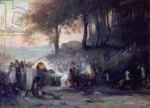 A Pagan Procession, 1896 (oil on canvas)
