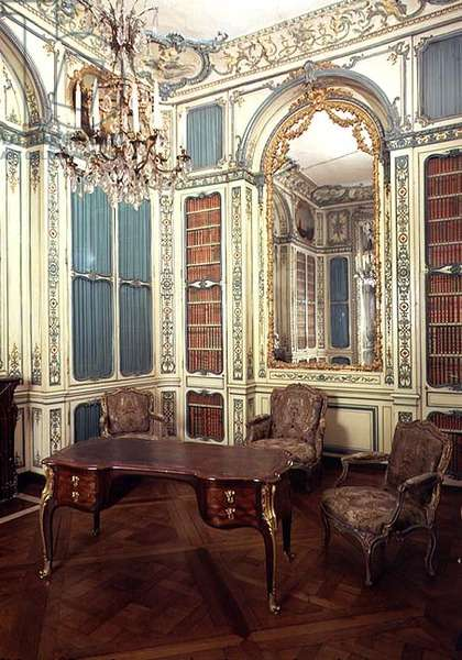 Private study of Dauphin Louis of France (1729-65) later a library (photo)