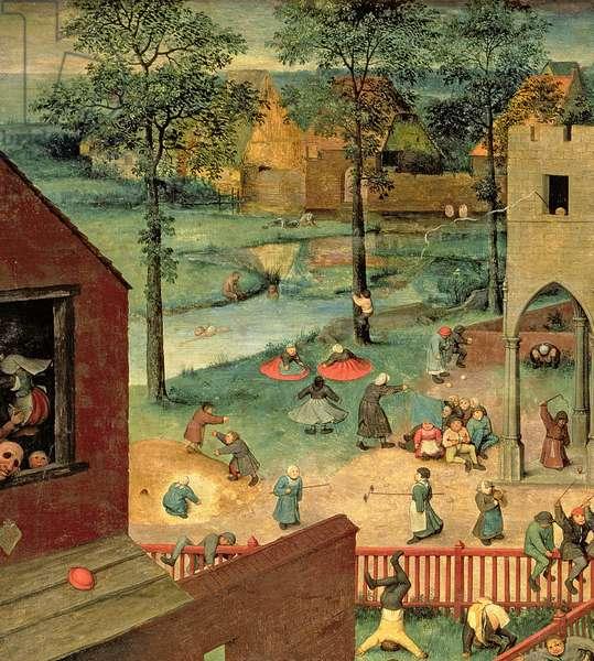 Children's Games (Kinderspiele), 1560 (oil on panel) (detail of 68945)