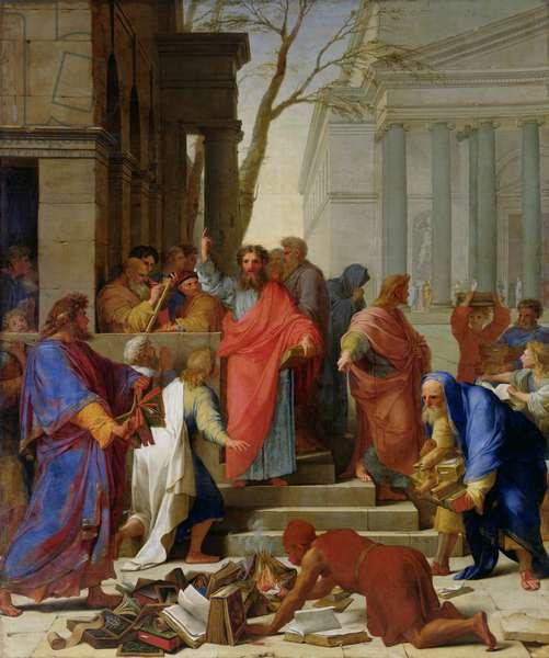 The Sermon of St. Paul at Ephesus, 1649 (oil on canvas)