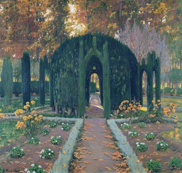 La Glorieta (Aranjuez) 1909 (oil on canvas)