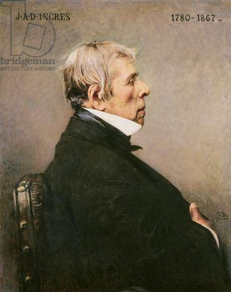 Portrait of J.A.D Ingres (1780-1867) (oil on canvas)