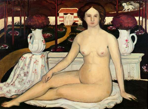 Nude with a Bouquet of Violets, 1894 (oil on canvas)