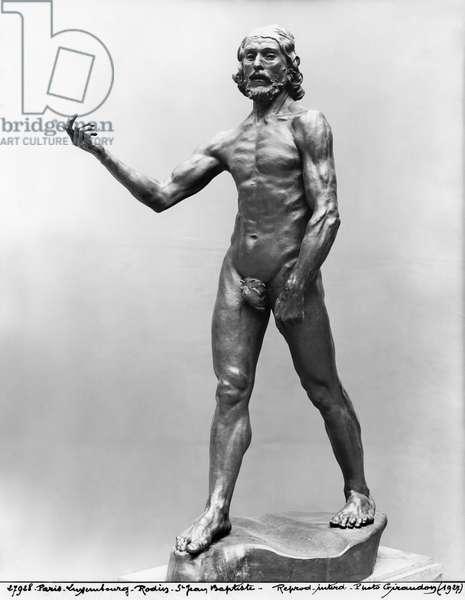 St. John the Baptist, 1878-80 (see also 279788) (bronze) (b/w photo)
