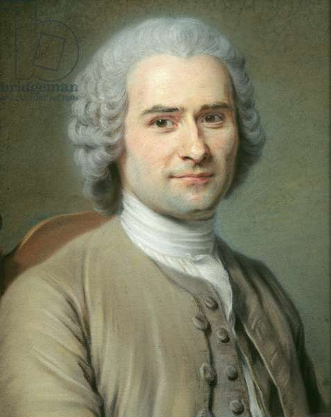 Portrait of Jean Jacques Rousseau (1712-78) (pastel on paper)