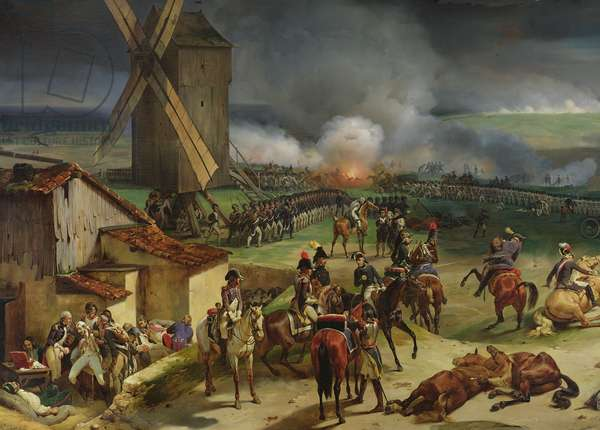 Battle of Valmy, 20th September 1792, 1835 (oil on canvas) (detail of left hand side)
