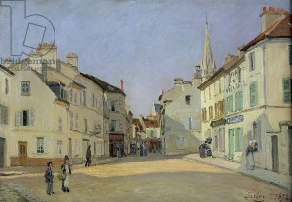 Rue de la Chaussee at Argenteuil, 1872 (oil on canvas)