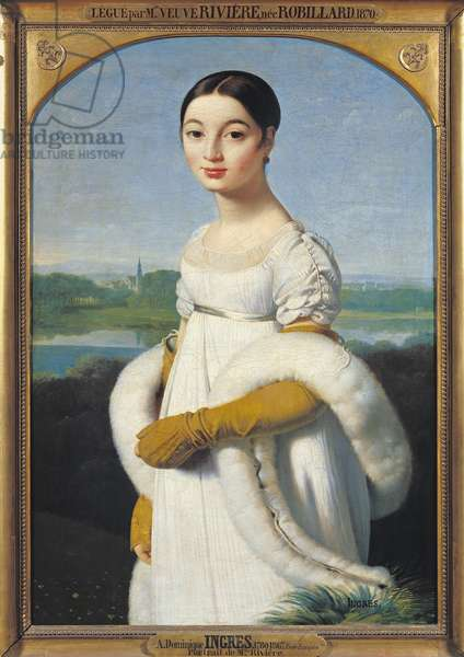 Portrait of Mademoiselle Caroline Riviere (1793-1803) 1805 (oil on canvas)