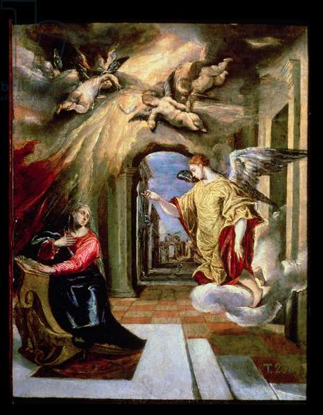 The Annunciation, c.1570-73 (oil on panel)