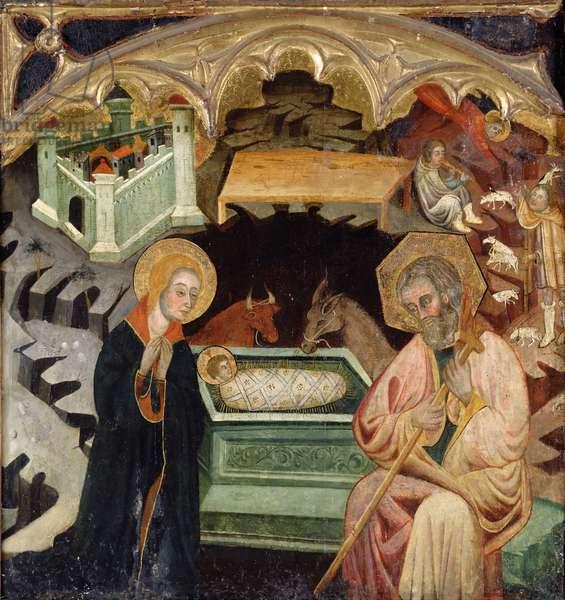 Nativity (oil on panel)