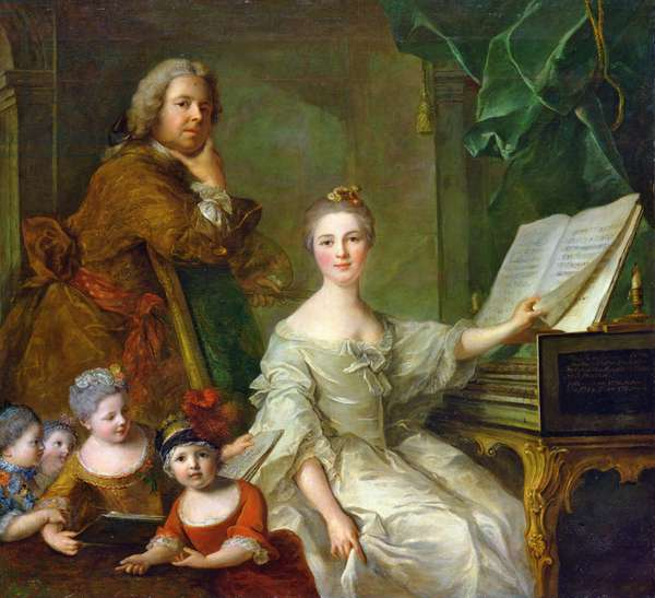 The Artist and his Family, 1730-62 (oil on canvas)
