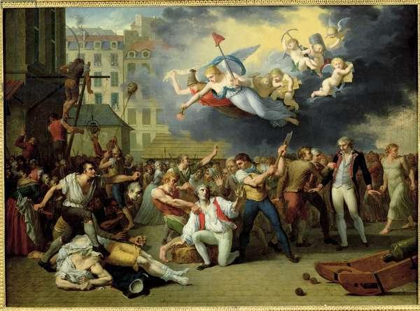 Massacre of the Marquis de Pellepont, 14th July 1789 (oil on canvas)