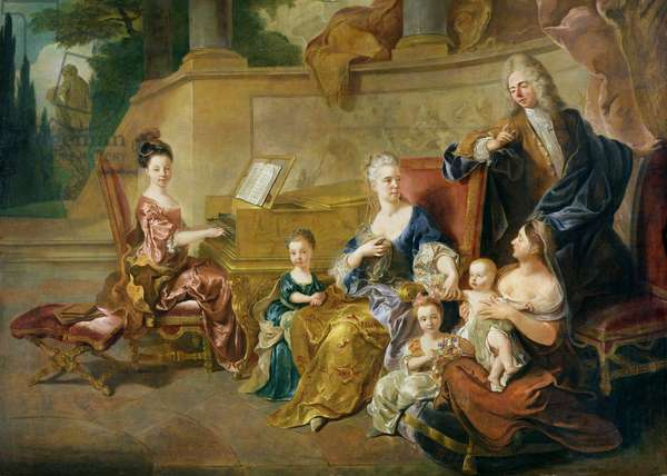 The Franqueville Family, 1711 (oil on canvas)