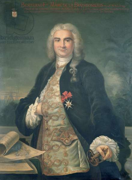 Bertrand-Francois Mahe de la Bourdonnais (1699-1753) (oil on canvas)