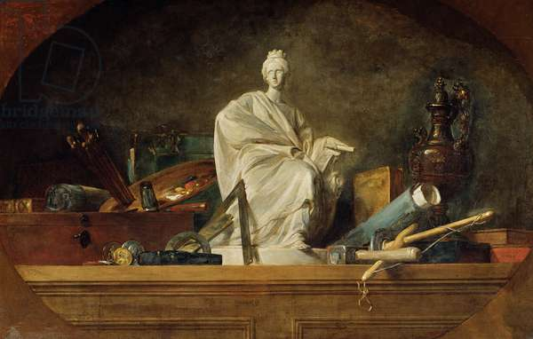 Attributes of the Arts, 1765 (oil on canvas)