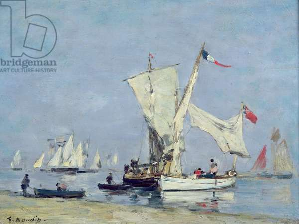 Sailing Boats, c.1869 (oil on panel)