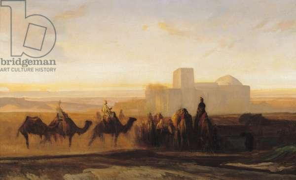 The Caravan (oil on canvas)