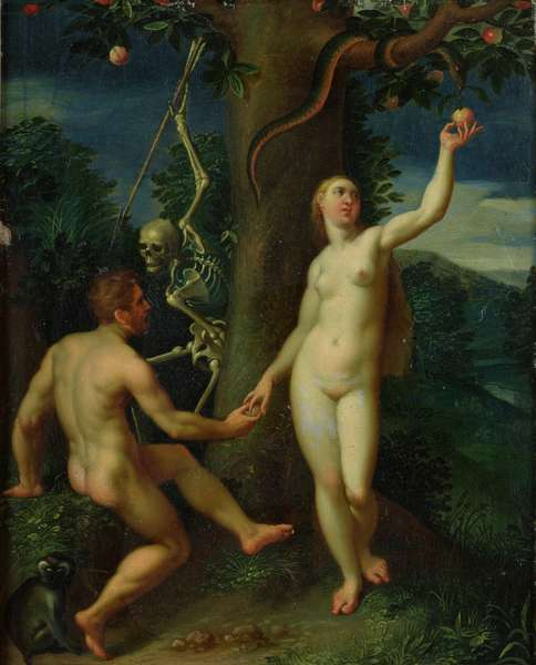 Adam and Eve (oil on panel)