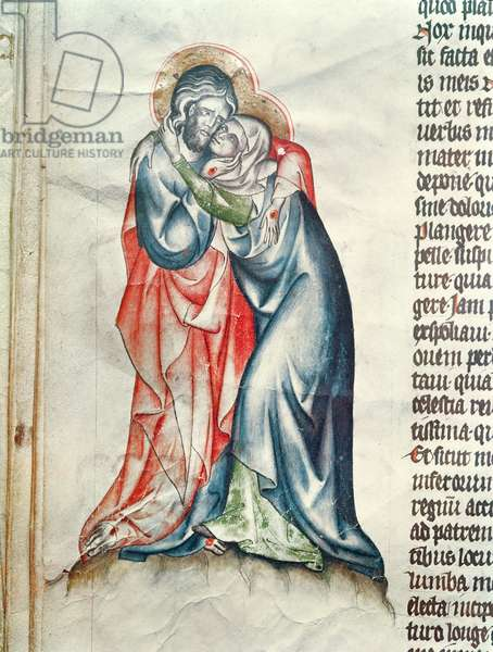The Virgin and Christ, from the Passion of Abbess Cunegonde (vellum)