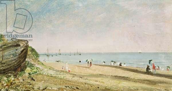 Brighton Beach (oil on paper)