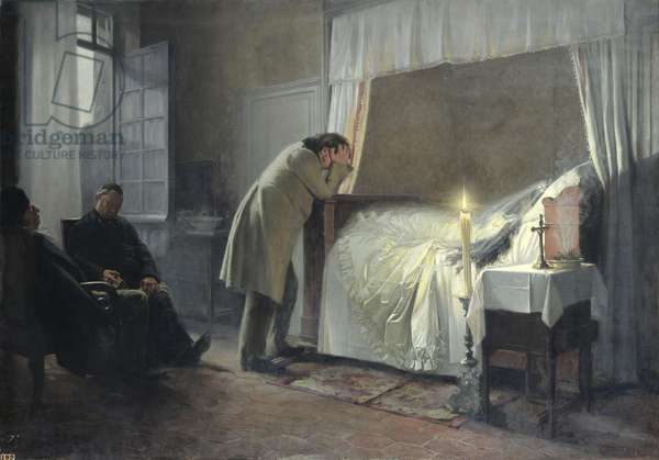 The Death Bed of Madame Bovary, before 1889 (oil on canvas)