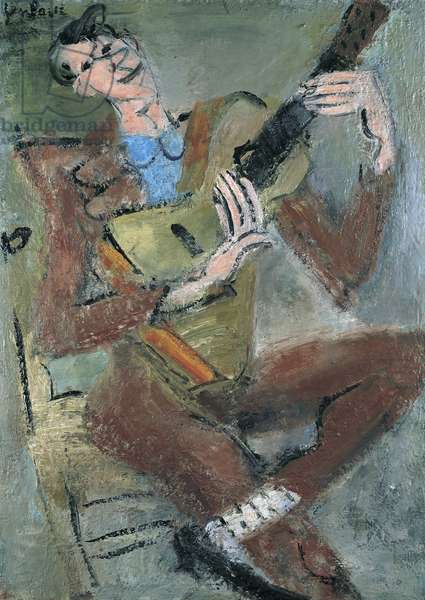 The Guitarist, c.1932 (oil on canvas)